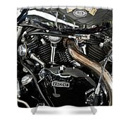 Egli-vincent Godet Motorcycle Shower Curtain
