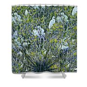 Egrets At Roost Shower Curtain