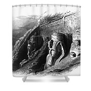Egypt: Abu Simbel Shower Curtain