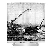 Egypt: Nile Transport Shower Curtain