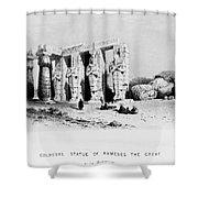 Egypt: Ramesseum Shower Curtain