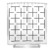 Ehrenstein Illusion Shower Curtain