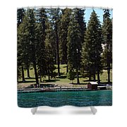 Ehrman Mansion Lake Tahoe Shower Curtain