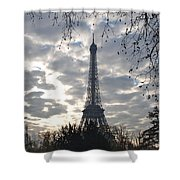 Eiffel In The Morning Shower Curtain