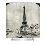 Eiffel Tower, 1900 Shower Curtain