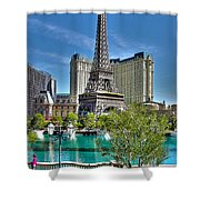 Eiffel Tower And Reflecting Pond Shower Curtain