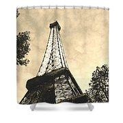 Eiffel Tower At Dusk Shower Curtain