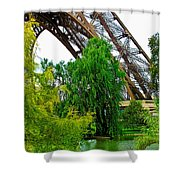 Eiffel Tower Garden Shower Curtain
