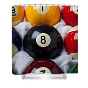Eight Ball Shower Curtain by Garry Gay