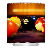 Eight Ball Shower Curtain
