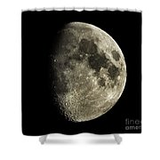 Eight-day-old Moon Shower Curtain