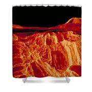 Eistla Regio Of Venus Shower Curtain