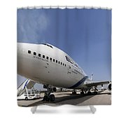 El-al Boeing 747-400 Shower Curtain