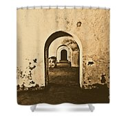 El Morro Fort Barracks Arched Doorways San Juan Puerto Rico Prints Rustic Shower Curtain