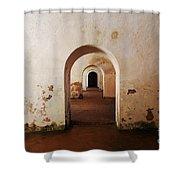 El Morro Fort Barracks Arched Doorways San Juan Puerto Rico Prints Shower Curtain
