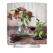 Elderberries 03 Shower Curtain