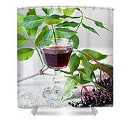 Elderberries 05 Shower Curtain