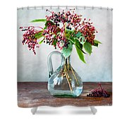 Elderberries 06 Shower Curtain