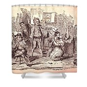 Eldons Hotel, Roundstone,connemara, Co Shower Curtain by The Irish Image Collection