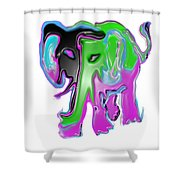Ele What? Shower Curtain