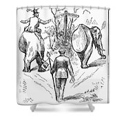 Election Cartoon, 1884 Shower Curtain