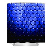 Electric Blue Circle Bumps Shower Curtain