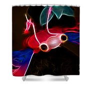 Electric Bug  Shower Curtain