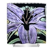 Electric Lily Phase Two Shower Curtain