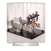 Electric Motor Shower Curtain by Ted Kinsman