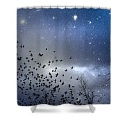 The Night Was Electrically Charged Shower Curtain