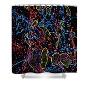 Electric Shy Girl Shower Curtain