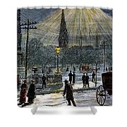 Electric Streetlight, 1881 Shower Curtain