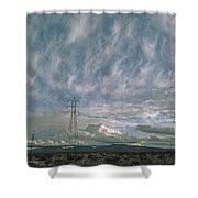 Electric Transmission Lines Shower Curtain