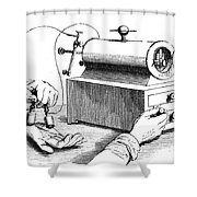 Electrical Device, 1876 Shower Curtain