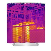 Electrical Substation Shower Curtain