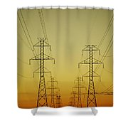 Electricity Pylons Shower Curtain
