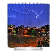 Electrifying Canvases Of Nature Shower Curtain