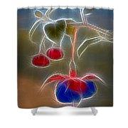 Electrifying Fuchsia Shower Curtain