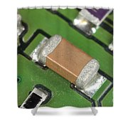 Electronics Board With Lead Solder Shower Curtain