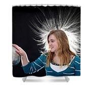 Electrostatic Generator, 4 Of 8 Shower Curtain