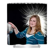 Electrostatic Generator, 7 Of 8 Shower Curtain