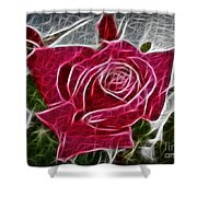 Electrostatic Rose Shower Curtain