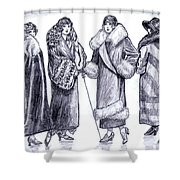 Elegant Coats Shower Curtain