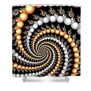 Elegant Swirls Shower Curtain