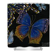 Elena Yakubovich - Butterfly 2x2 Lower Right Corner Shower Curtain