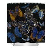 Elena Yakubovich Butterfly 2x2 Shower Curtain