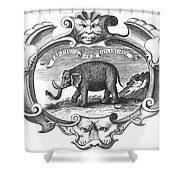 Elephant, 17th Cent Shower Curtain
