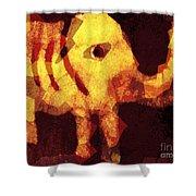 Elephant I Am Shower Curtain