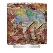 Elephant II Shower Curtain