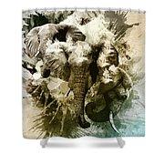 Elephants Gone Wild Shower Curtain